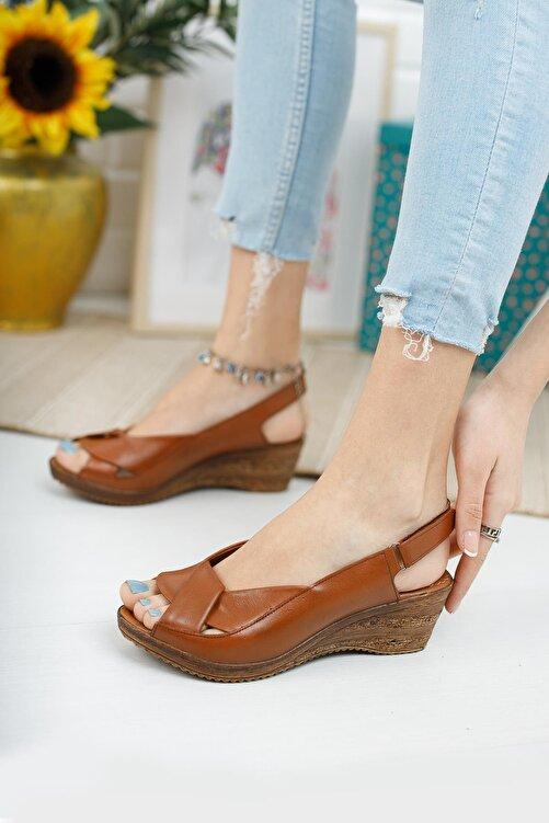 Diego Carlotti Hakiki Deri Kadın Dolgu Topuk Sandalet 2