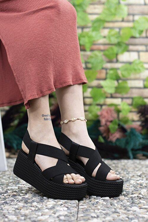 Riccon Kadın  Siyah Yüksek Topuklu Sandalet 0012460 2