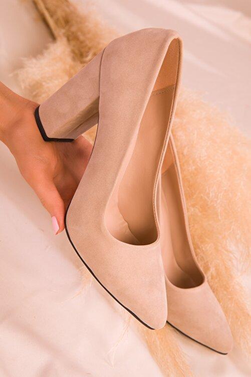 SOHO Ten Süet Kadın Klasik Topuklu Ayakkabı 15313 2