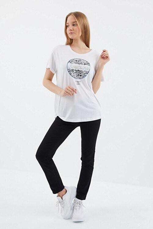 VENA Kadın Beyaz Couture T shırt 1
