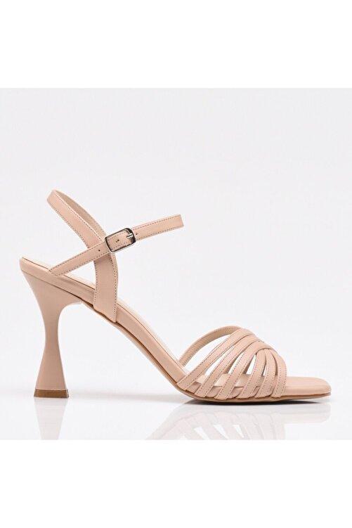 Hotiç Pudra Yaya Topuklu Sandalet 2