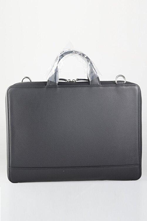 GUARD Hakiki Gerçek Deri Laptop ve Evrak Çantası Siyah - Pudingim - Özel Üretim 2