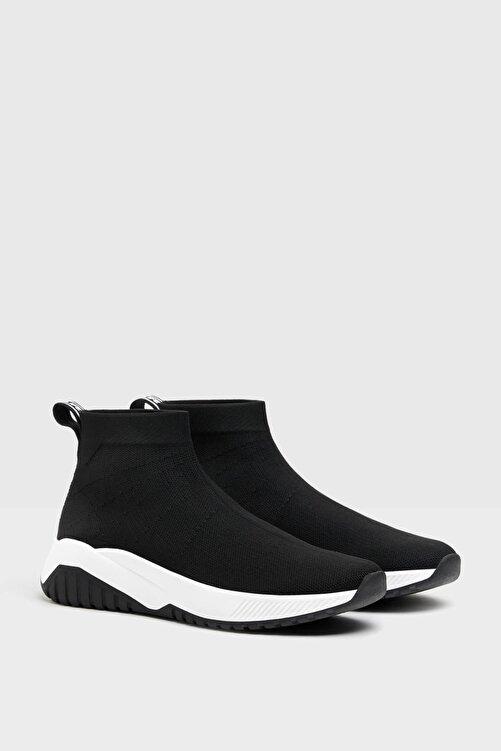 Bershka Kadın Siyah Çorap Model Fileli Bilekli Spor Ayakkabı 1