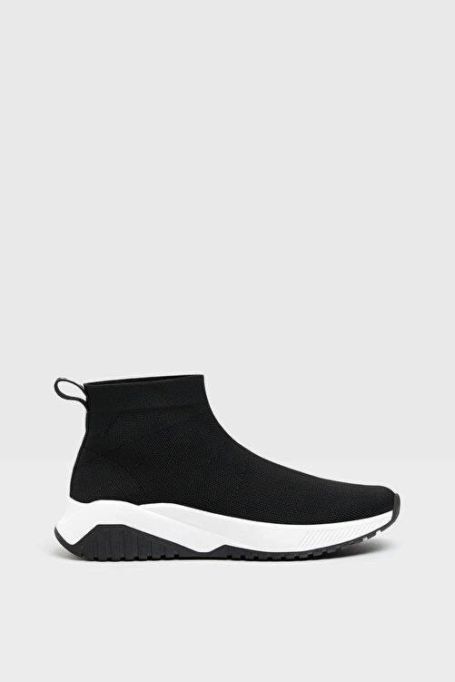 Bershka Kadın Siyah Çorap Model Fileli Bilekli Spor Ayakkabı 2