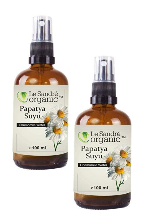 Le'Sandre Organics Papatya Suyu Cam Şişe Sprey 100 ml + 100 ml 2 Li Set 1