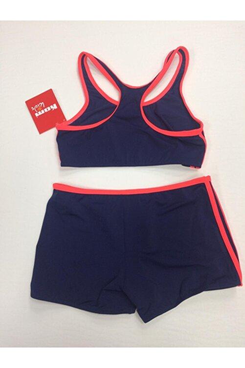 Kom Kız Çocuk Lacivert Sporcu Bikini Takımı 2