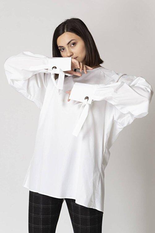 Eleventy %100 Koton, Manşet Detay, Bol Kesim Bluz 1