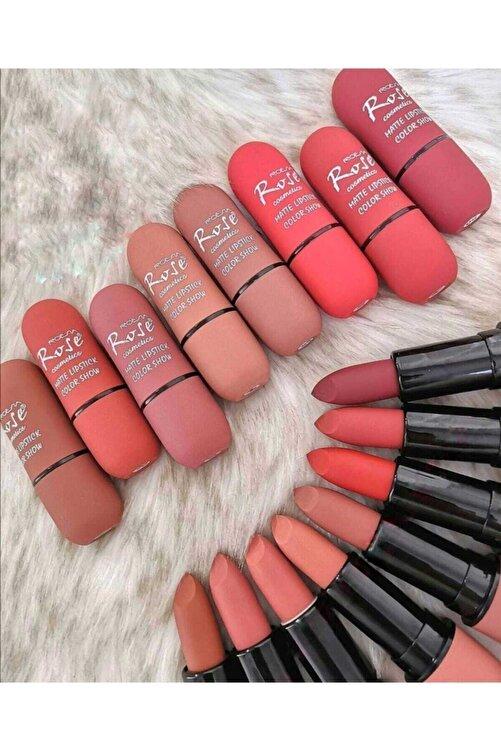 Roesıa Rose Cosmetics Unisex Roesia Nude Lip 8li Ruj Seti 1