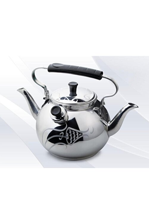 EARABUL Alüminyum Lüks Kamp Çaydanlığı - Süzgeçli Demlik - Çift Taraflı Işlemeli Piknik Çaydanlık Seti 2,5 L 1