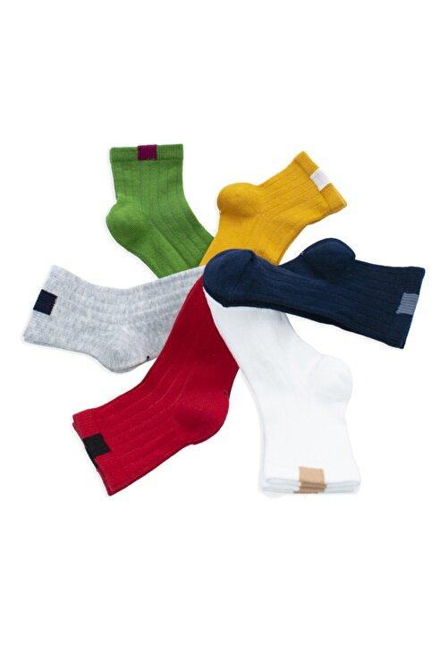 Belyy Socks Unısex Çocuk Renkli Çorap 6'lı 1
