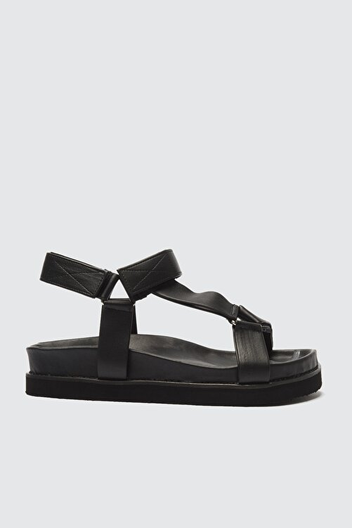 TRENDYOL SHOES Siyah Kadın Sandalet TAKSS21SD0019 2
