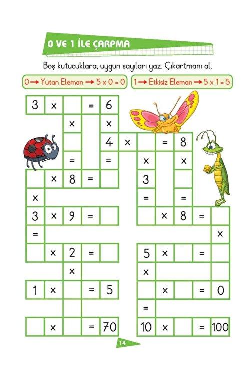 Limonkids Ilk Okul Eğlenceli Matematik Çıkartmalı Çarpma 2
