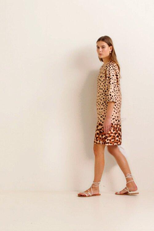 MANGO Woman Kadın Kahverengi Elbise 41010934 1