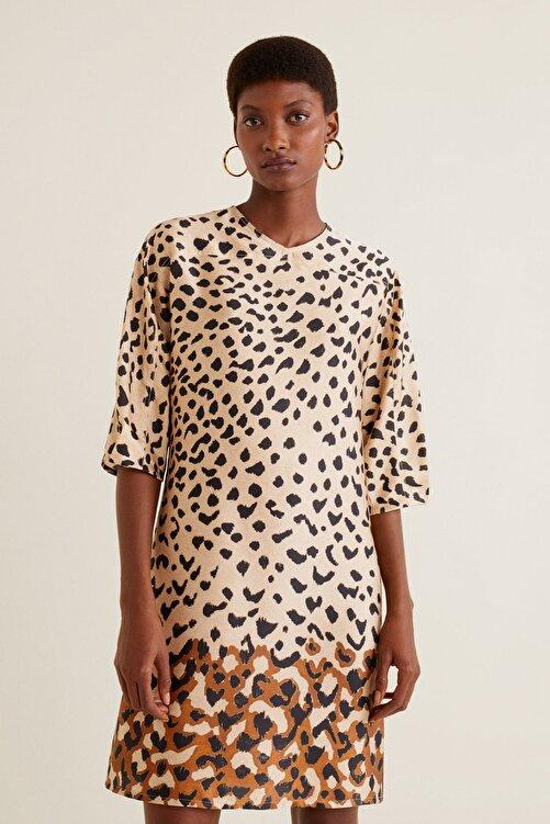 MANGO Woman Kadın Kahverengi Elbise 41010934 2