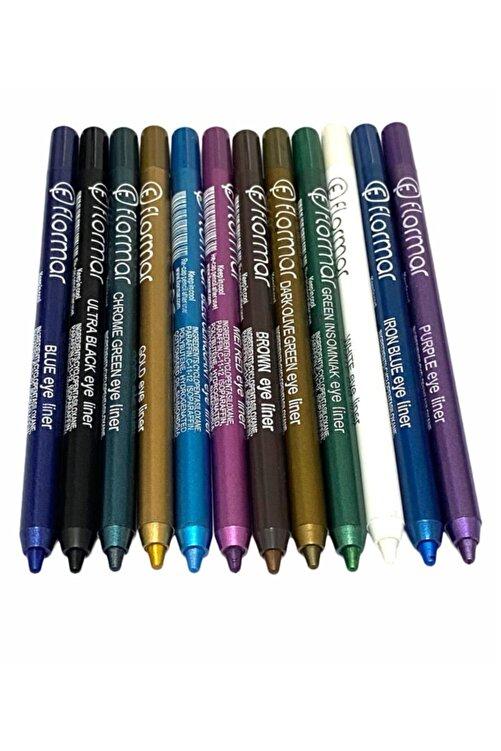 Flormar Kozmetik Renkli Göz Kalemleri 12adet 1