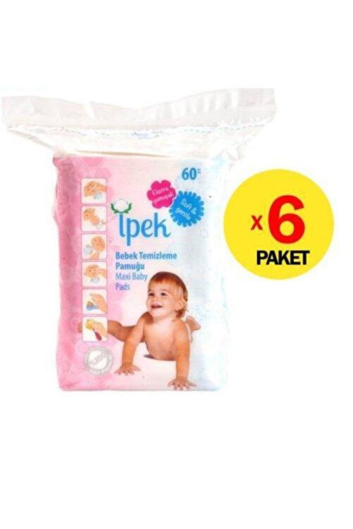 İpekçe Ipek Bebek Temizleme Pamuğu 60 Adet X 6 Pk. 1