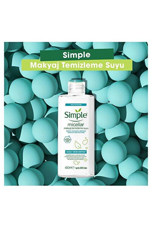 Simple Daily Skin Detox Yağlı/Karma Ciltler İçin Micellar Makyaj Temizleme Suyu 400 ml 2