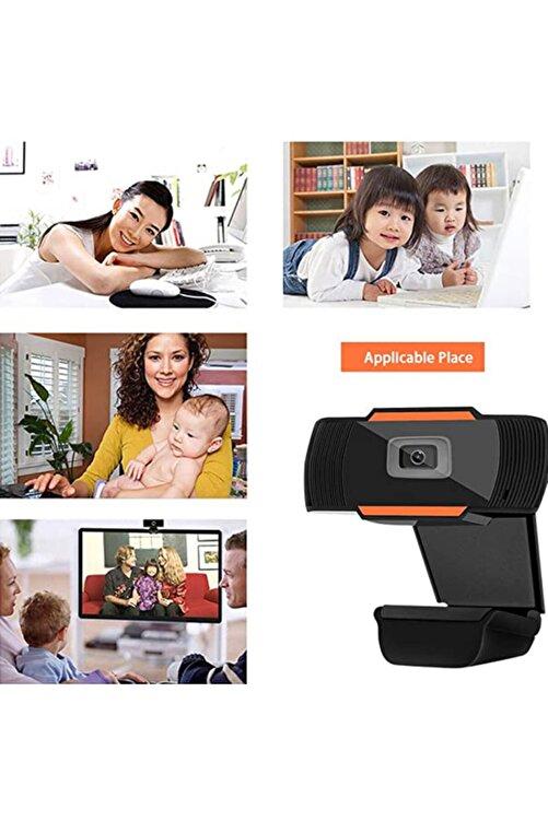 RUKUSHE Mikrofonlu Webcam Kamera Hd Kalite 720p Eba Zoom Destekli Tüm Windows Sürümleri Ile Uyumlu 2