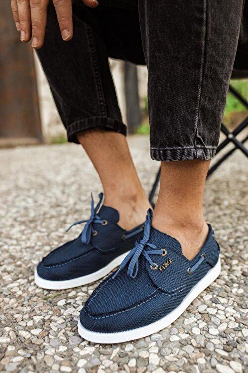Knack Mevsimlik Keten Ayakkabı 008 Mavi 1