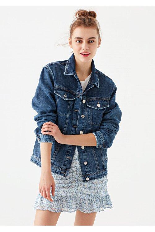 Mavi Kadın Karla Gold Icon Koyu Jean Ceket 110154-30105 1