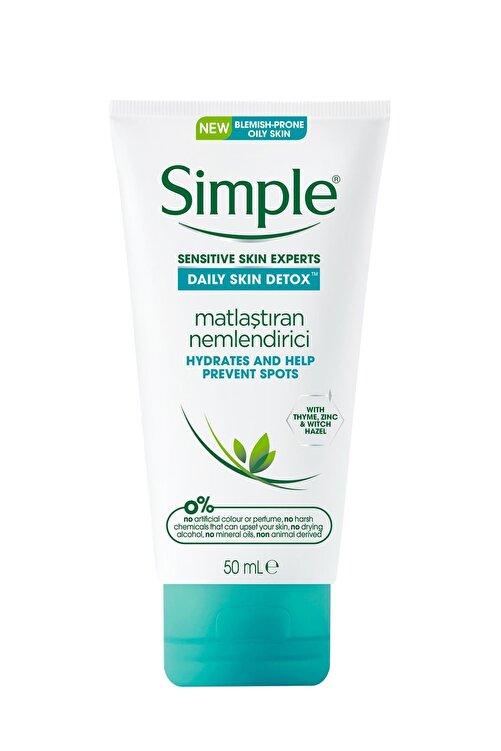 Simple Daily Skin Detox Yağlı/Karma Ciltler İçin Kekik Özlü Matlaştıran Nemlendirici 50 ml 1