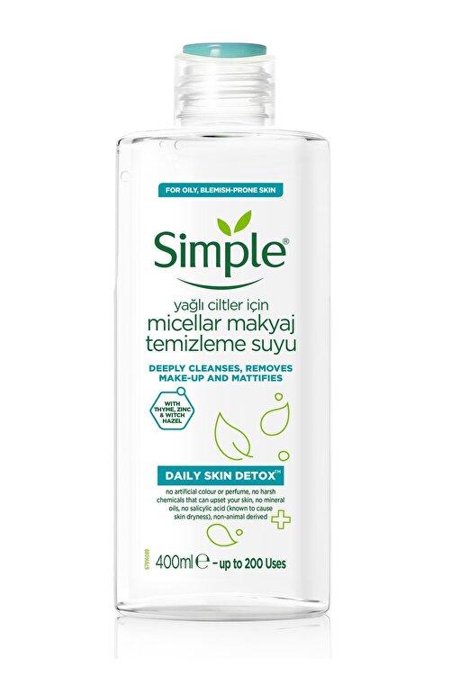 Simple Daily Skin Detox Yağlı/Karma Ciltler İçin Micellar Makyaj Temizleme Suyu 400 ml 1