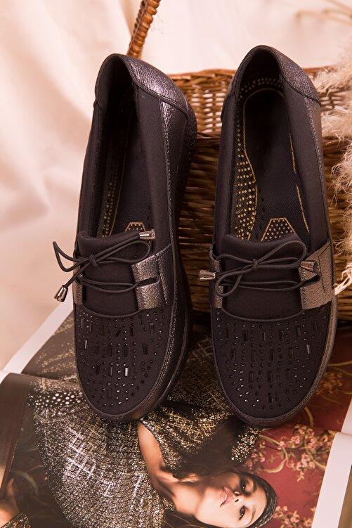 SOHO Platin-Siyah  Kadın Casual Ayakkabı 15429 2