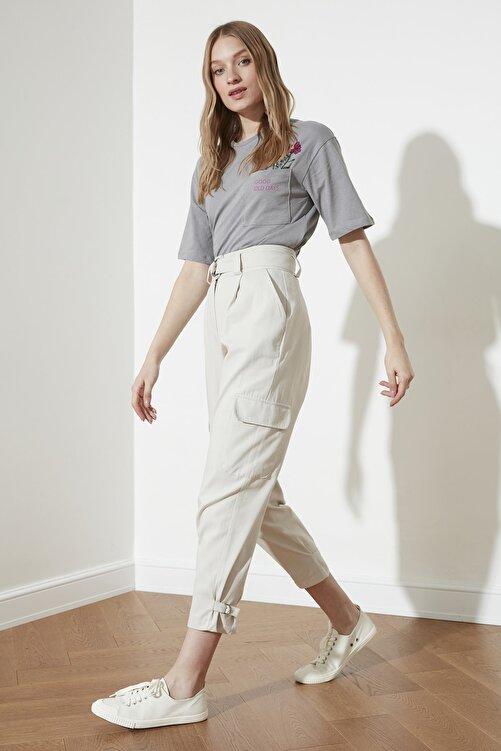TRENDYOLMİLLA Taş Paça Detaylı Pantolon TWOSS21PL0138 2
