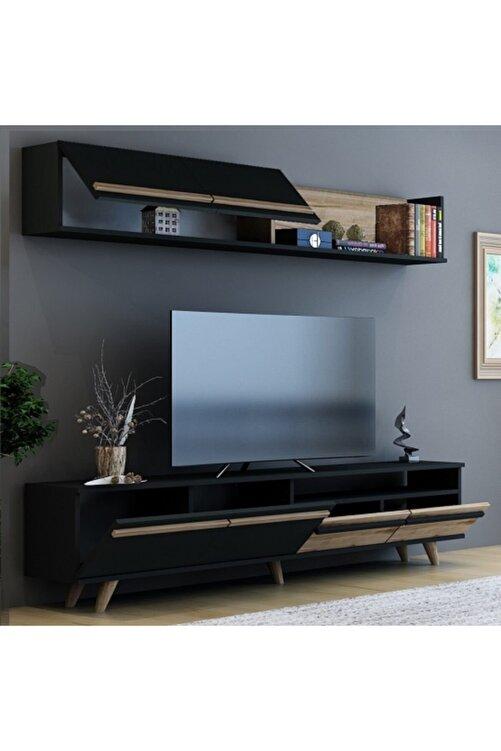 BMdekor Mono Antrasit Çırağan Tv Ünitesi 180 cm 2
