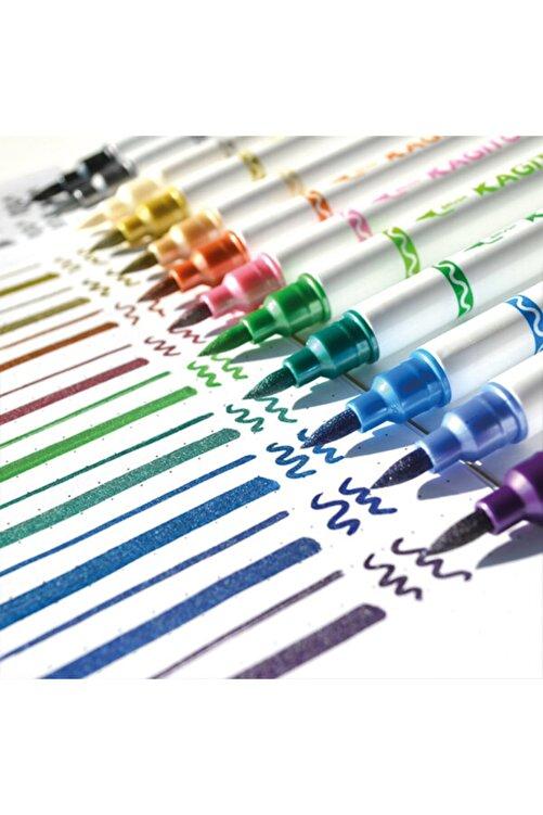 kagito Metalik Çift Uçlu Brush Pen Seti 12li 2