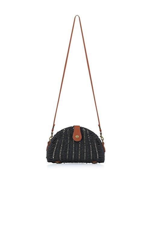 Oblavion Kadın Siyah Hasır Çanta 1008 2