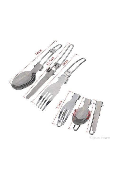 NURGAZ Katlanır Çatal Kaşık Bıçak Seti 2