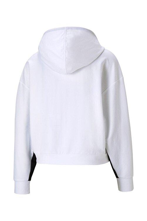 Puma Kadın Sweatshirt Kapüşonlu Modern Sports Hoodie - Beyaz 2