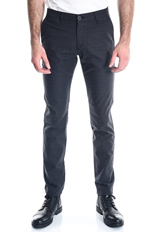 LTC Jeans Antrasit Ekose Slimfit Erkek Chino Pantolon - 10389 1
