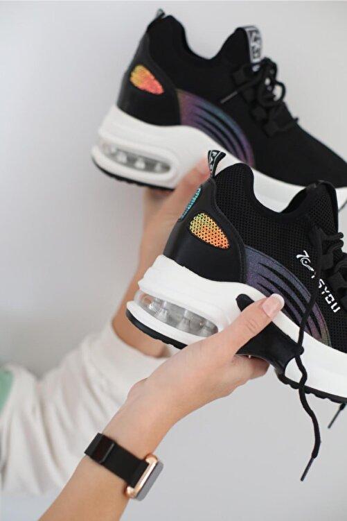 Guja Kadın Siyah Spor Sneaker 2