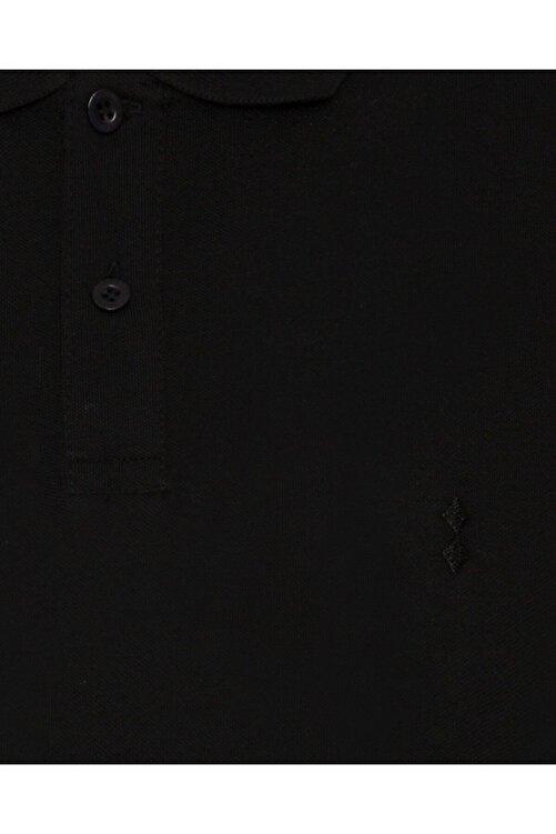 SÜVARİ Erkek Siyah Slim Fit Polo Yaka Tişört 2