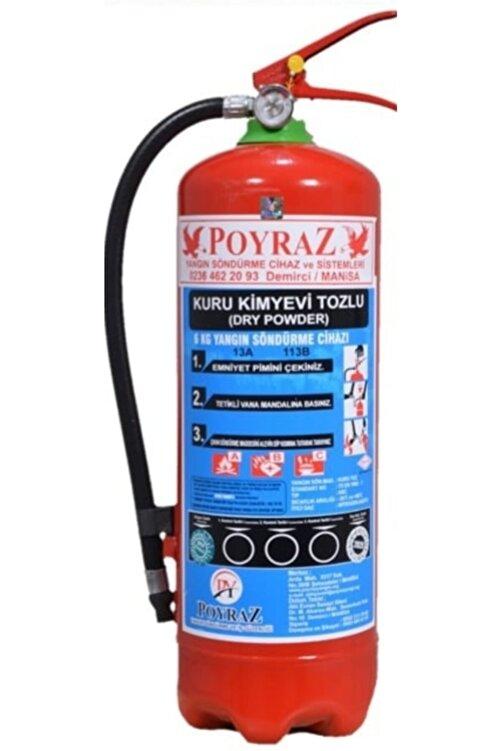 POYRAZ 6kg Yangın Söndürme Tüpü Abc Tozlu 4 Yil Askı Aparatı Levha Hedıyelı 2