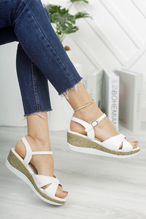 Life is Shoes Arora Yazlık Dolgu Tokalı Kadın Sandalet 1