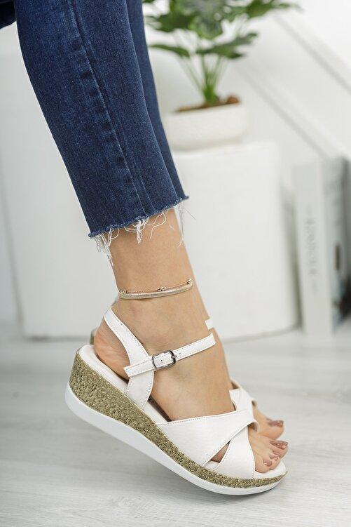 Life is Shoes Arora Yazlık Dolgu Tokalı Kadın Sandalet 2