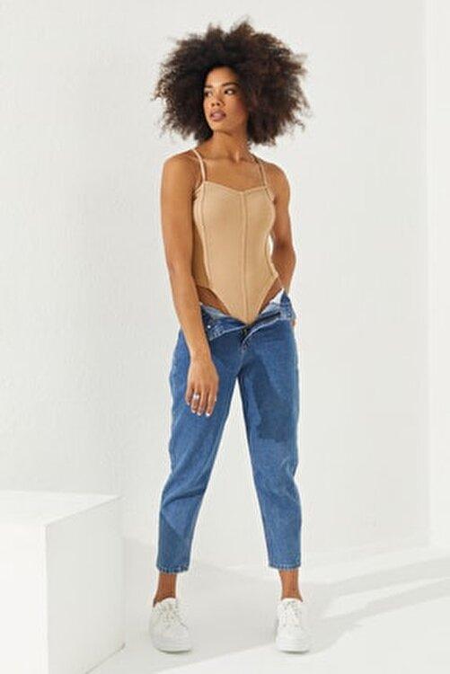 Reyon Kadın Taş Çıtçıtlı Askılı Bluz 2