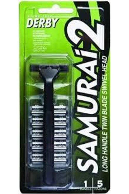 Derby Samuray 2 Bıçak Makina+5 Yedek 1