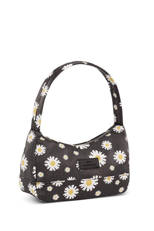 Housebags Kadın Haki Çiçekli Baguette Çanta 197 2