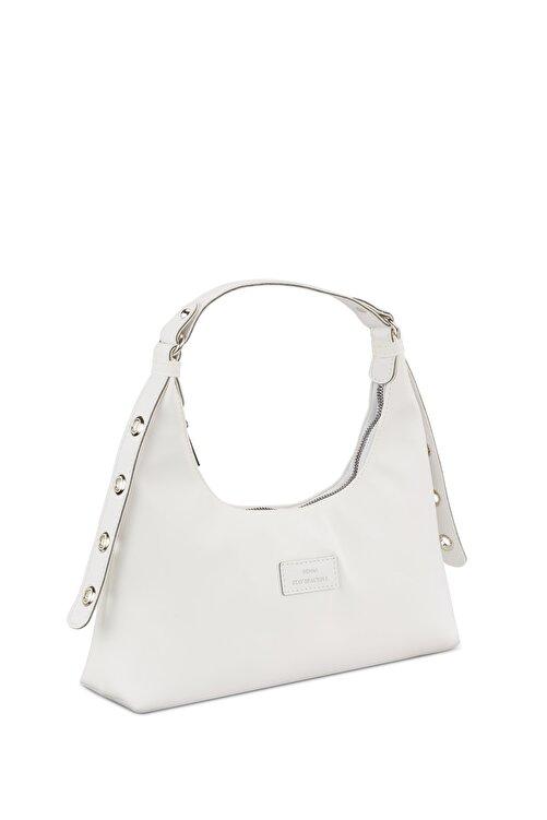 Housebags Kadın Beyaz Baguette Çanta 205 2