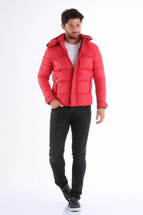 Phazz Brand Erkek Kırmızı Mont 1201 1