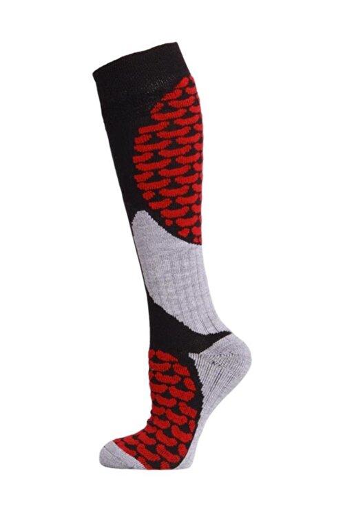 Panthzer Ski & Snowboard Erkek Kayak Çorabı Siyah/Kırmızı 1