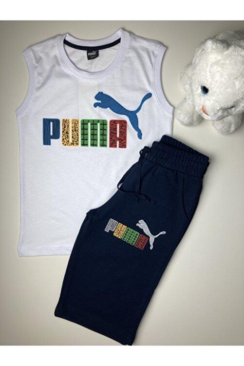Puma Erkek Çocuk Sıfır Kol Şortlu Takım 2