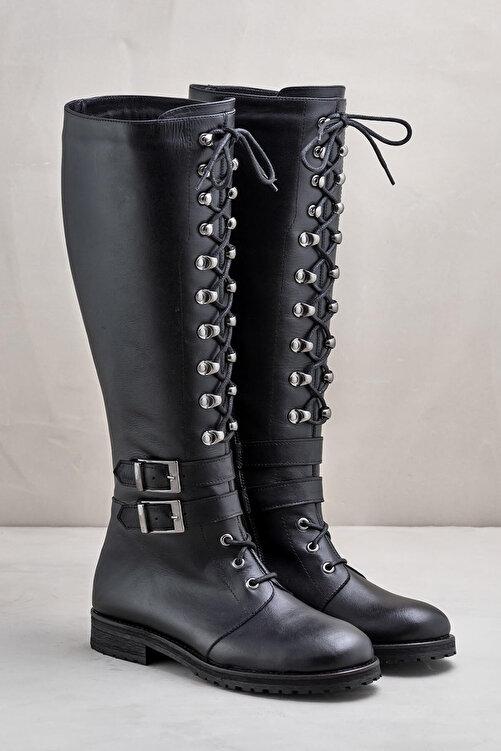 Elle Shoes BECA Hakiki Deri Siyah Kadın Çizme 2