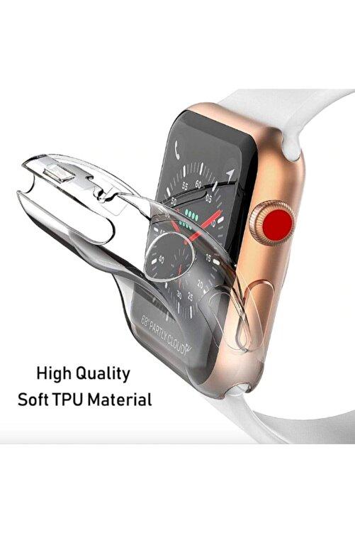 Gate Apple Watch Şeffaf Silikon Kılıf 42mm Tam Koruma Apple Watch 3 4 5 2