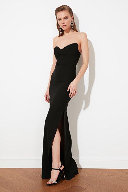 TRENDYOLMİLLA Siyah Balenli Abiye & Mezuniyet Elbisesi TPRSS21AE0047 2