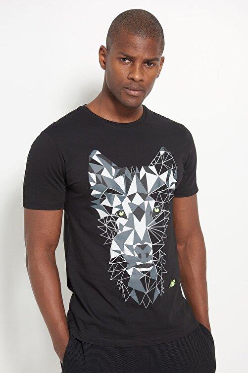 New Balance Erkek T-Shirt - NB Wolf Tee - V-MTT902-BK 1